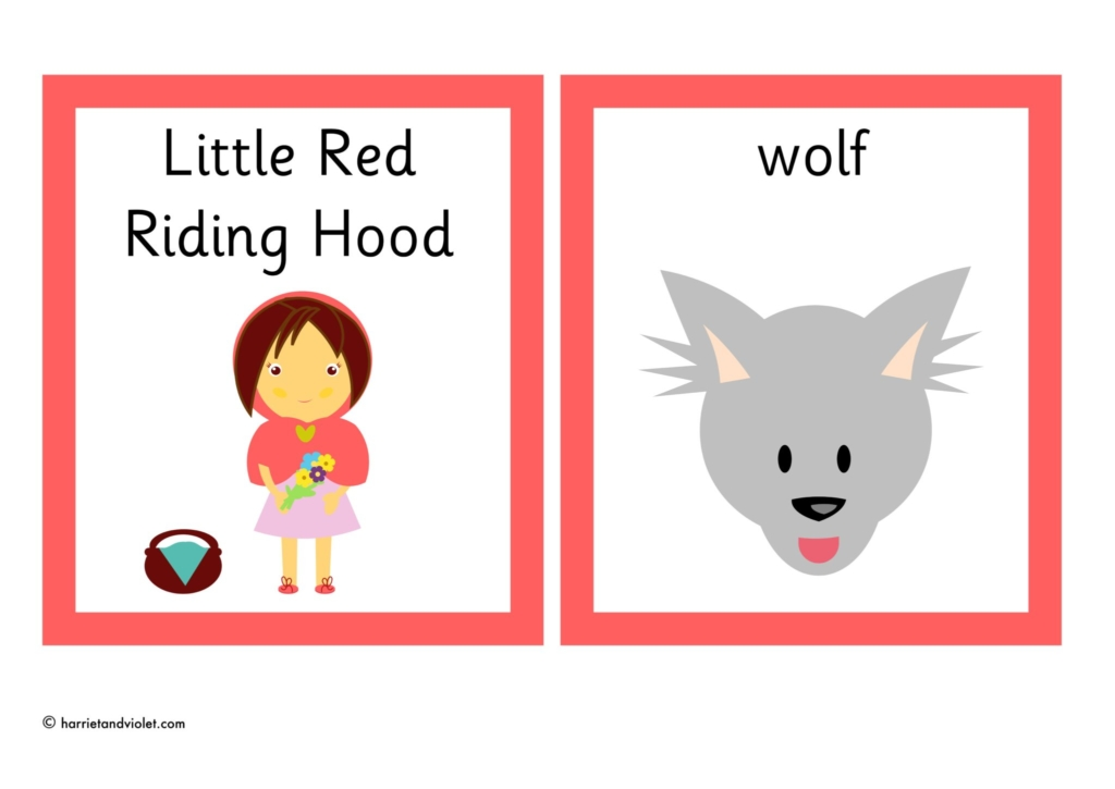 Little Red Riding Hood Flashcards Printable Teaching Resources