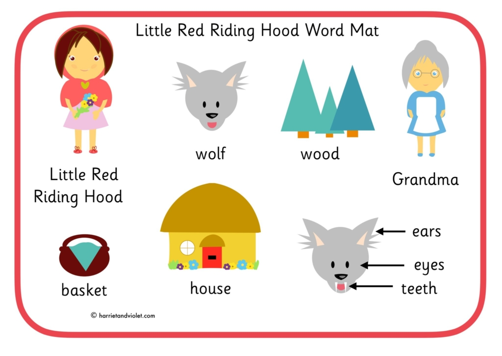 Little Red Riding Hood Word Mat Printable Teaching Resources