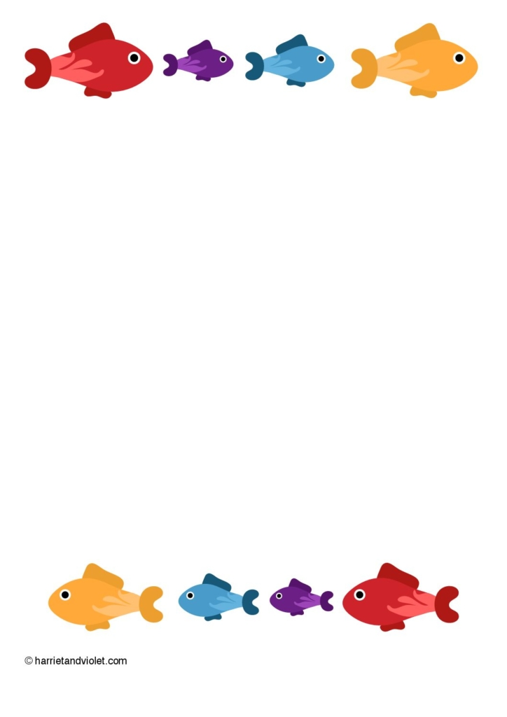 fish border paper a4 free teaching resources print play learn rh printplaylearn com christian fish border clip art fish border clip art free