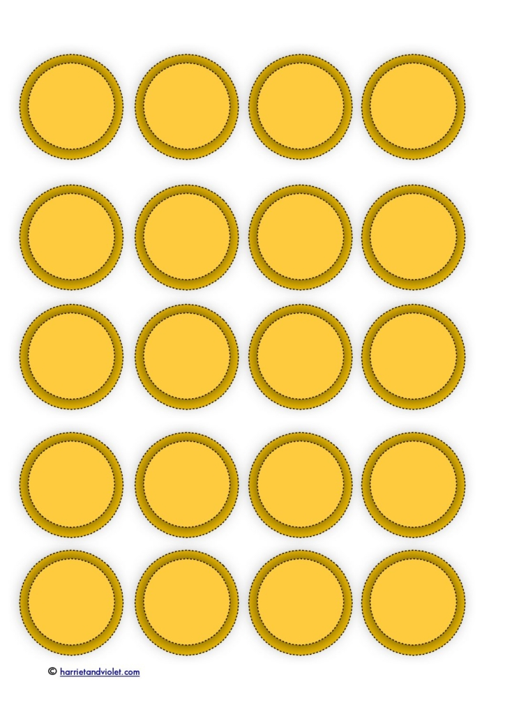 photograph regarding Gold Coin Template Printable identified as Gold Cash Templates Printable No cost