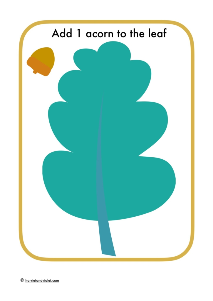 playdough mat acorn and leaf printplaylearn