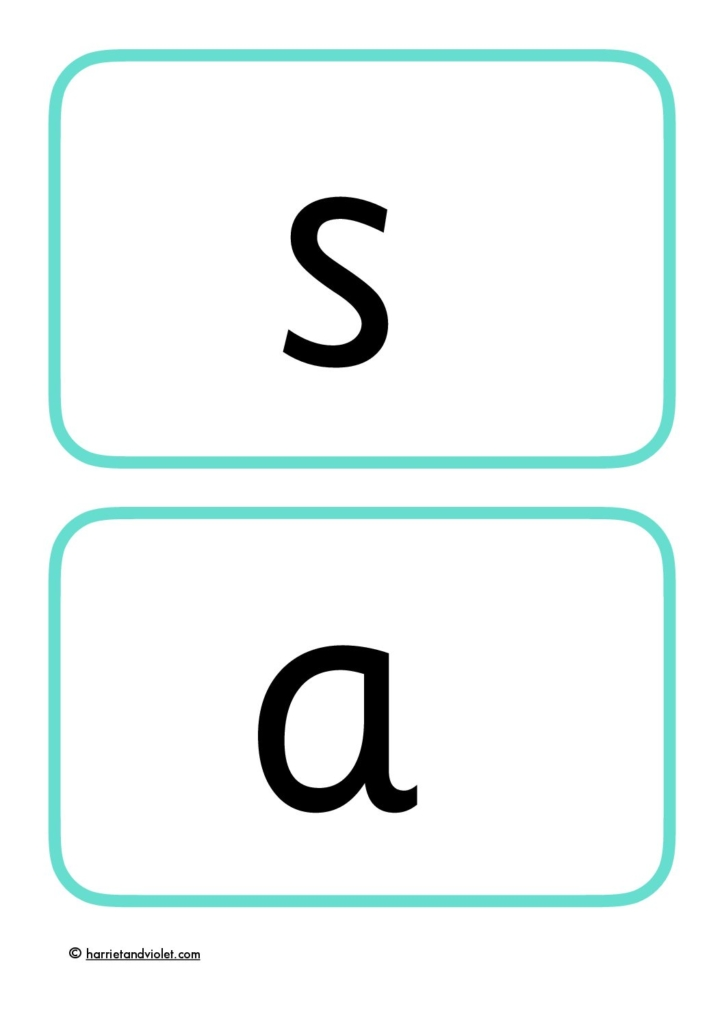 It is a photo of Phonics Flashcards Printable inside grade 1