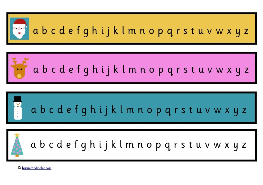 It is a photo of Alphabet Strip Printable inside paper