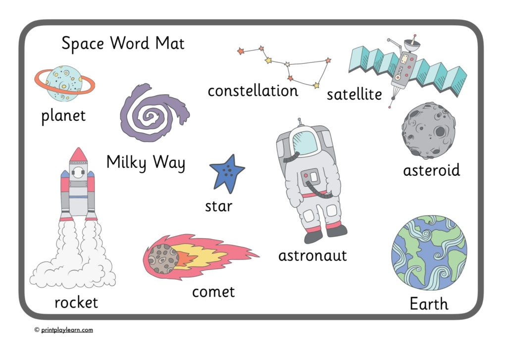 Word banks word mats page 1 free teaching resources print premium space word mat ink save spiritdancerdesigns Gallery