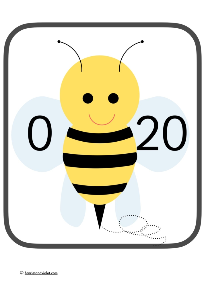 number bonds 0-20 printplaylearn bees for classroom
