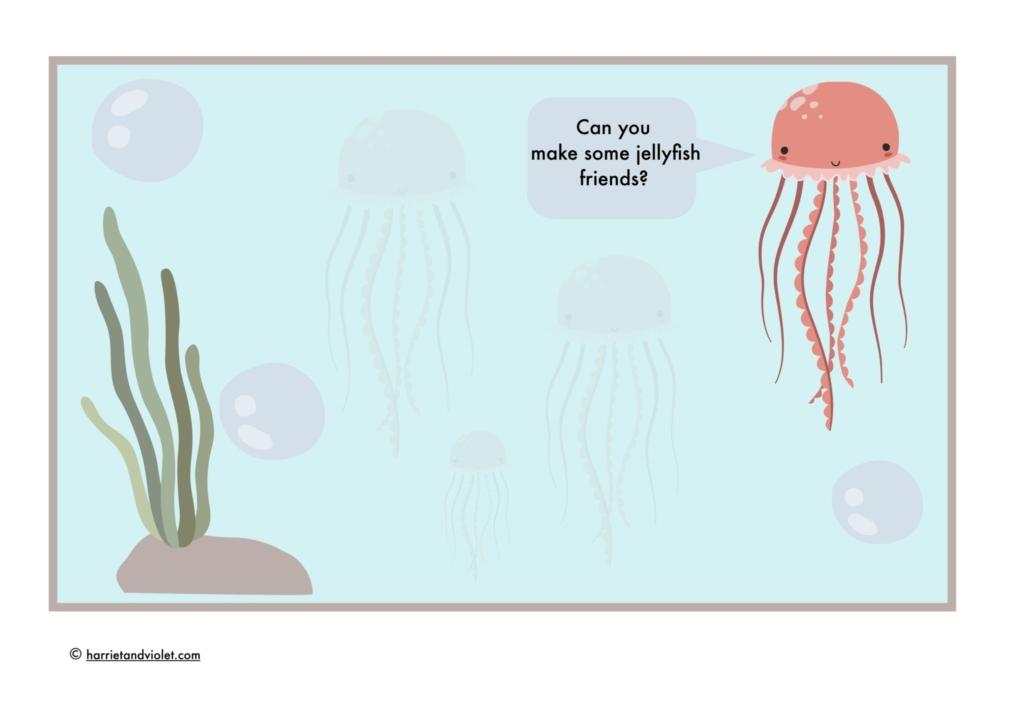 underwater playdough mat jellyfish