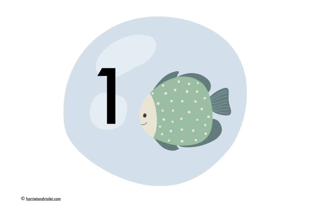 fish water bubble number line