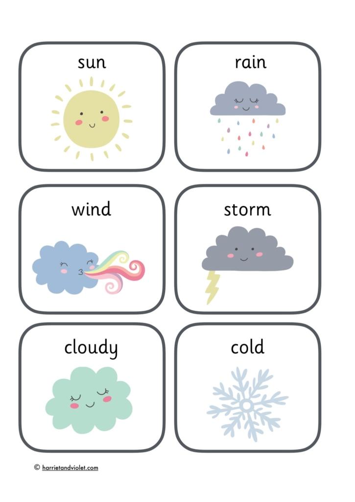 2 on Weather Printables