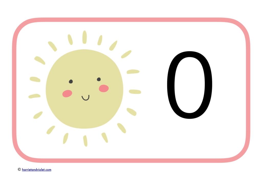 sunshine pink border large number