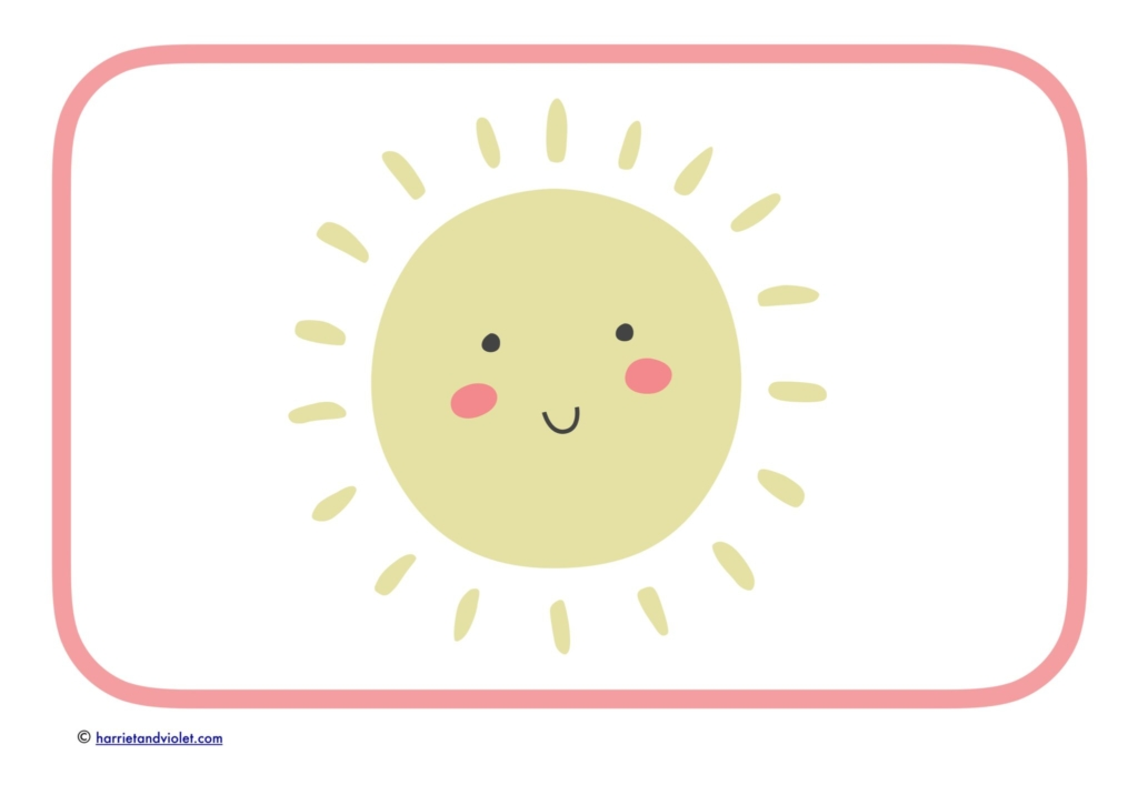 large smiling sun pink border