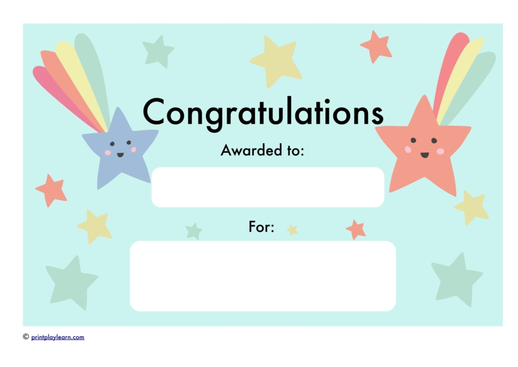 Congratulations Certificate | Congratulations Certificate Free Teaching Resources Print Play Learn