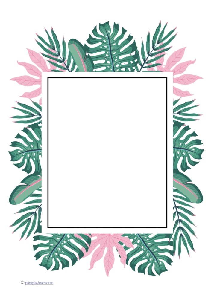 Summer Leaf Writing Frame - Free Teaching Resources - Print Play Learn