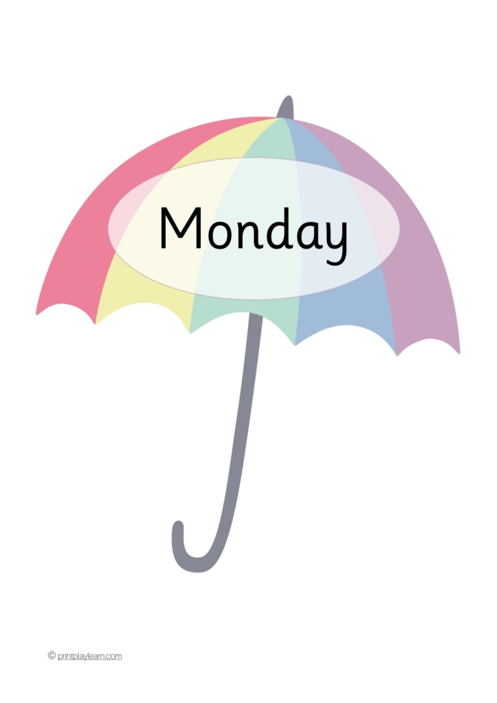 umbrella days of the week
