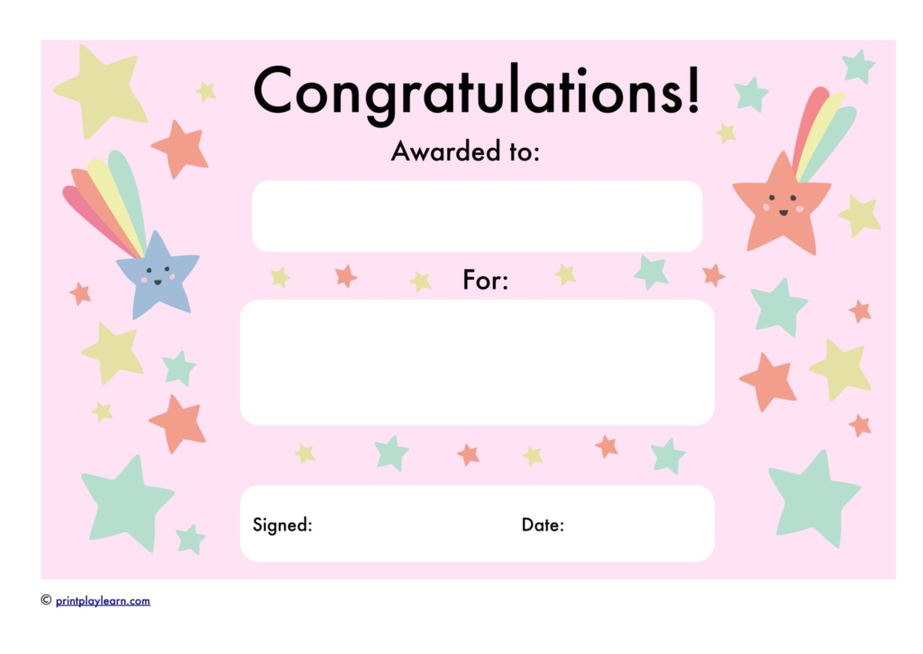 end of year certificate