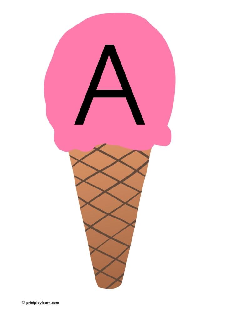 letters on icecream EYFS display