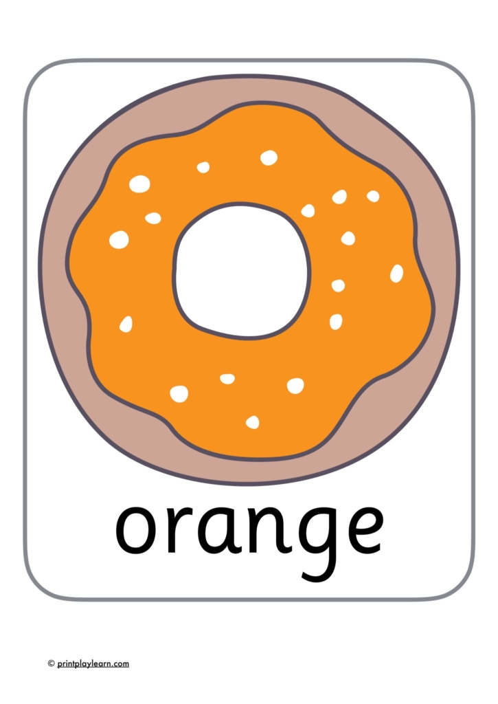 donut colour charts for the classroom primary school
