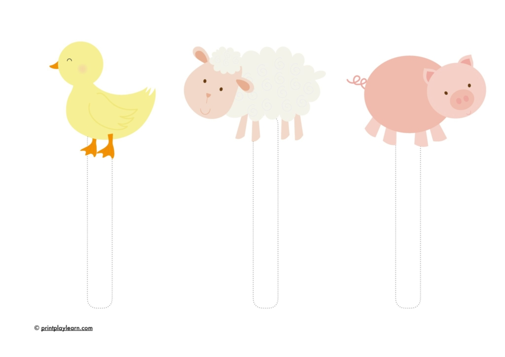 farm animal puppets for roleplay EYFS