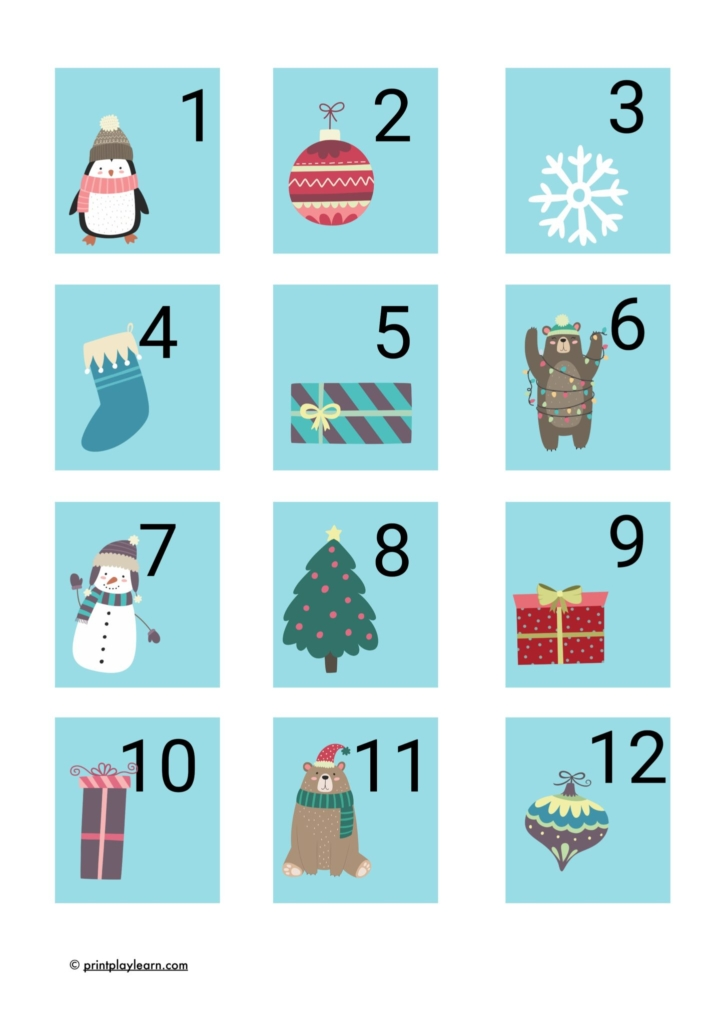This is an image of Christmas Numbers Printable pertaining to template