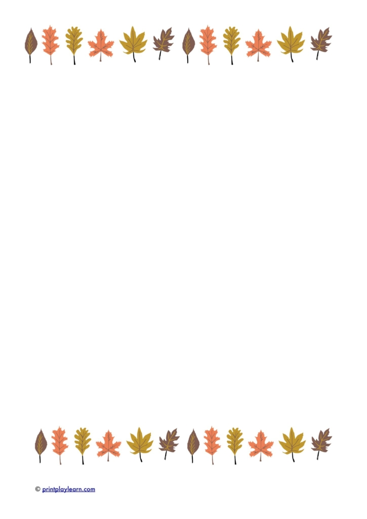 autumn mark making paper writing paper EYFS early years