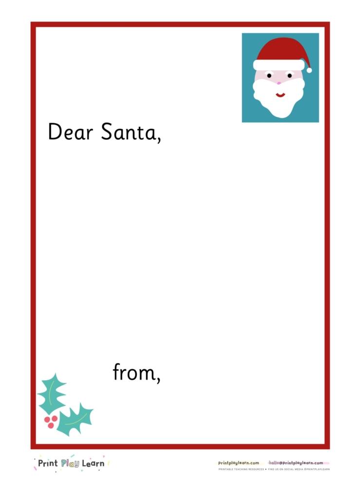 free letter to santa school primary