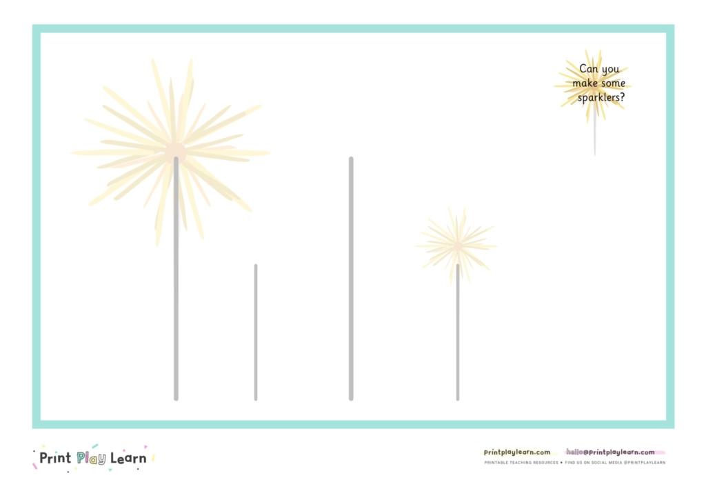 firework playdough mat