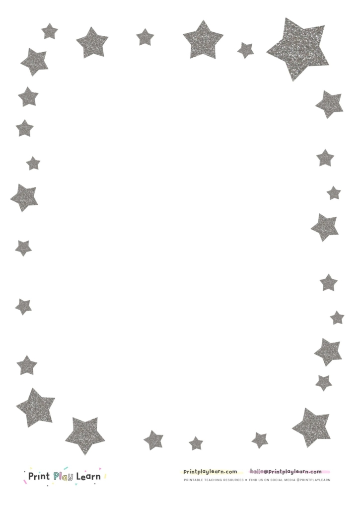free star writing paper print play learn