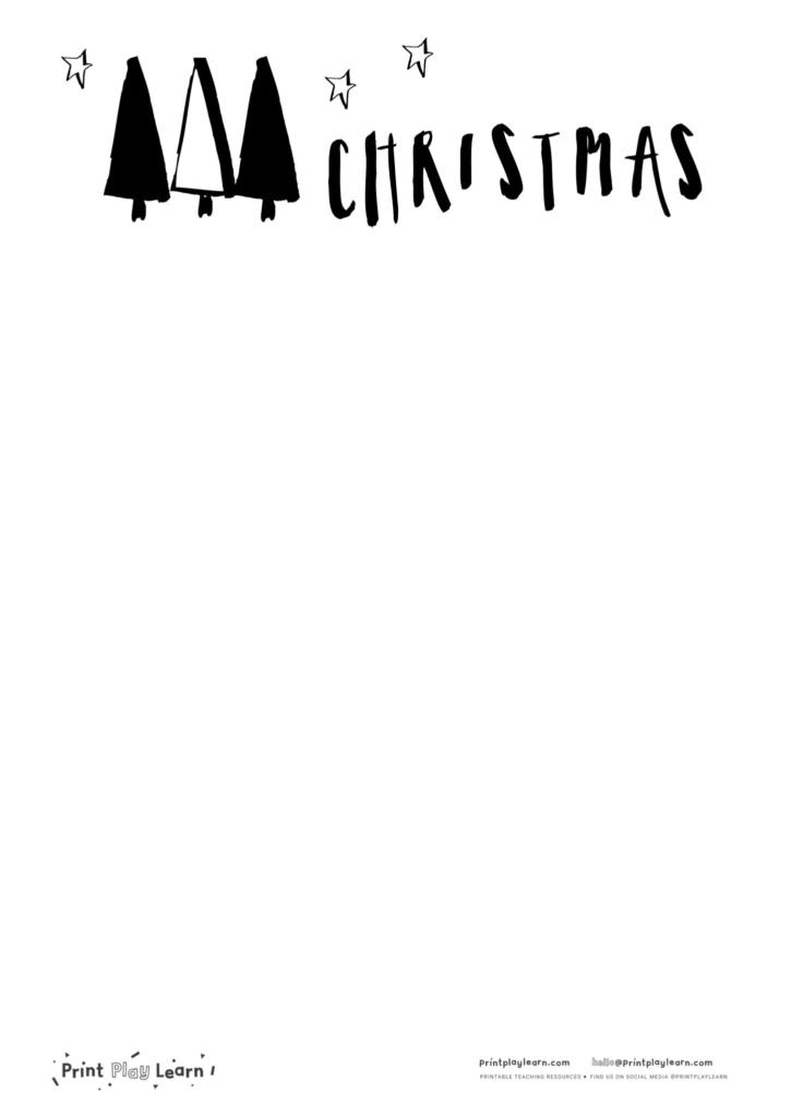 Christmas paper black and white drawing
