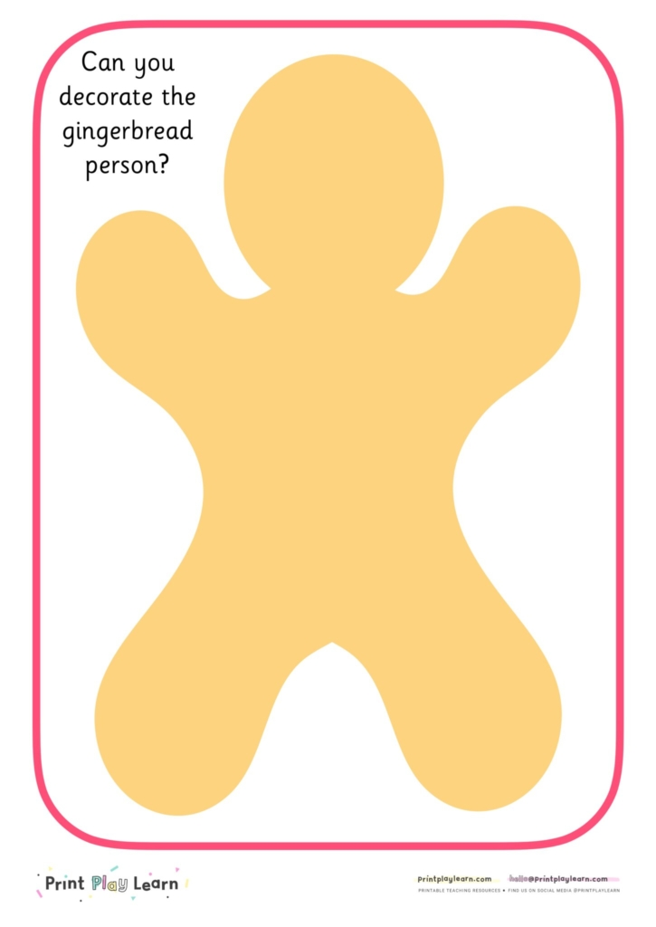 gingerbread playdough mat