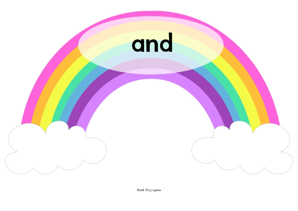conjunctions rainbow display primary