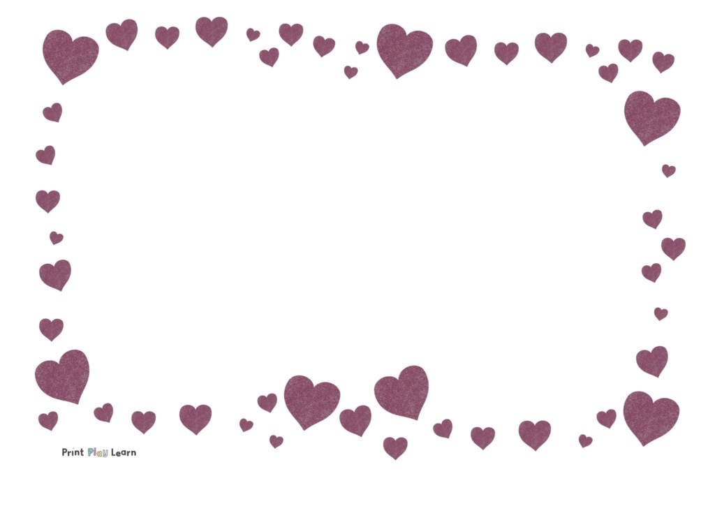 glitter heart valentine paper