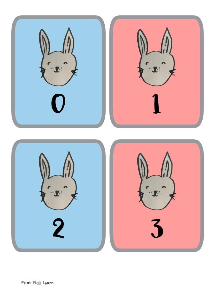 rabbit flashcards 0-30
