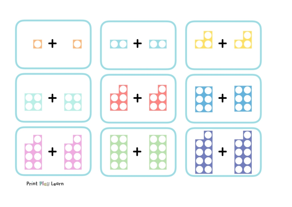 numicon doubles game for early years different boxes with numbers 1+1 and doubles