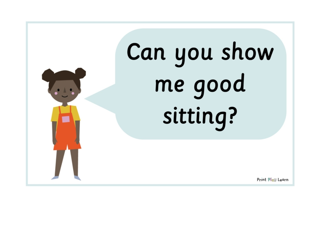 classroom prompts for behavouir print play learn