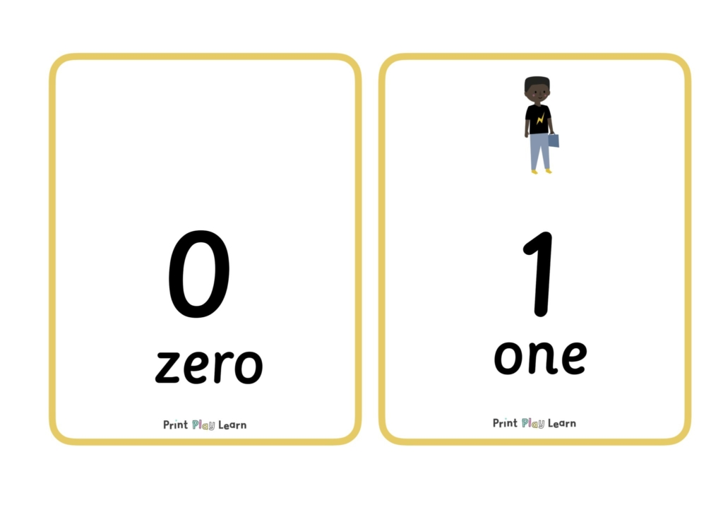 yellow border with a number written and a digit primary school math maths