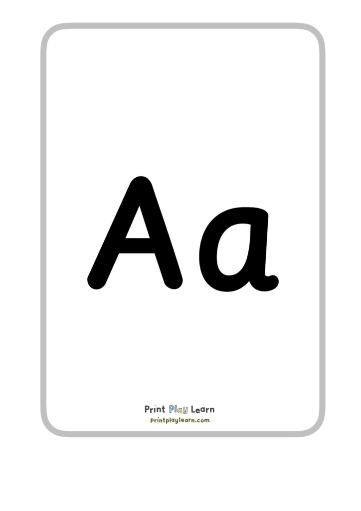 montessori font alphabet posters printplaylearn