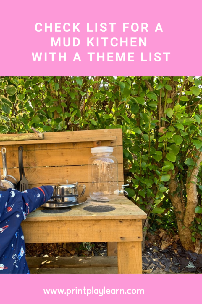 printplaylearn mud kitchen checklist