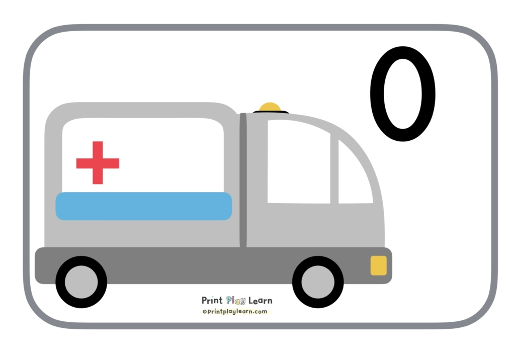 printplaylearn 10 ambulance number line