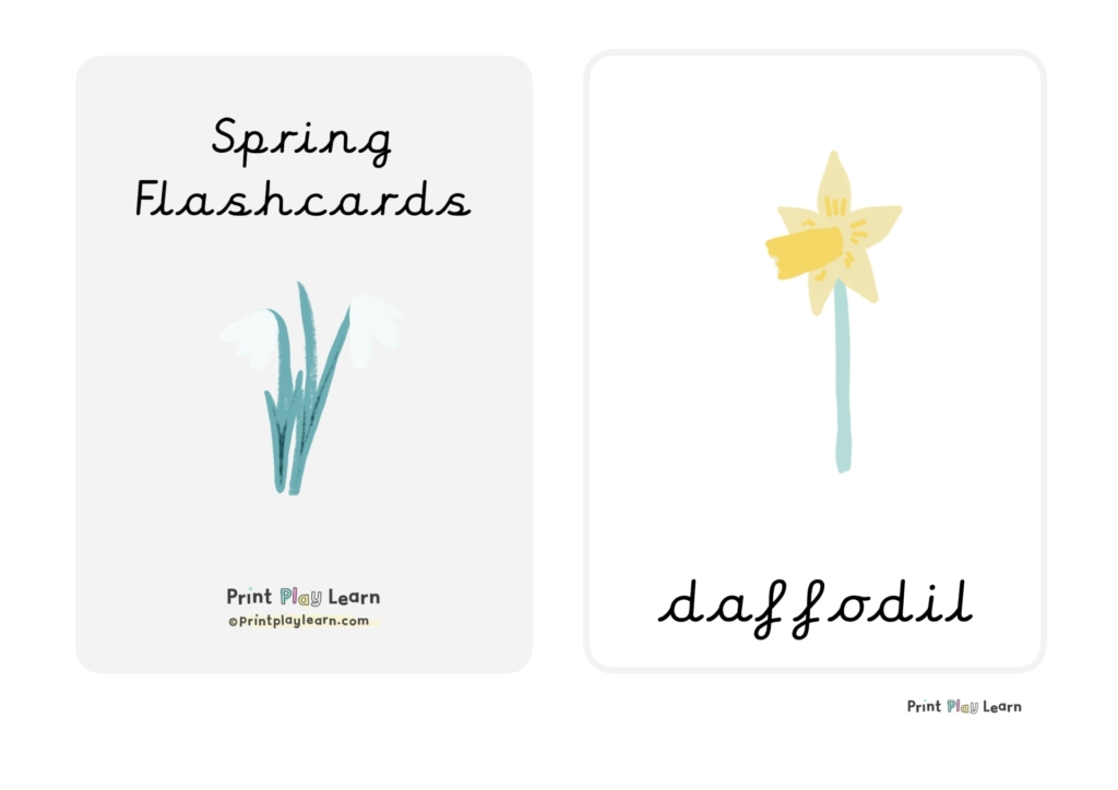 Spring flashcards printplaylearn
