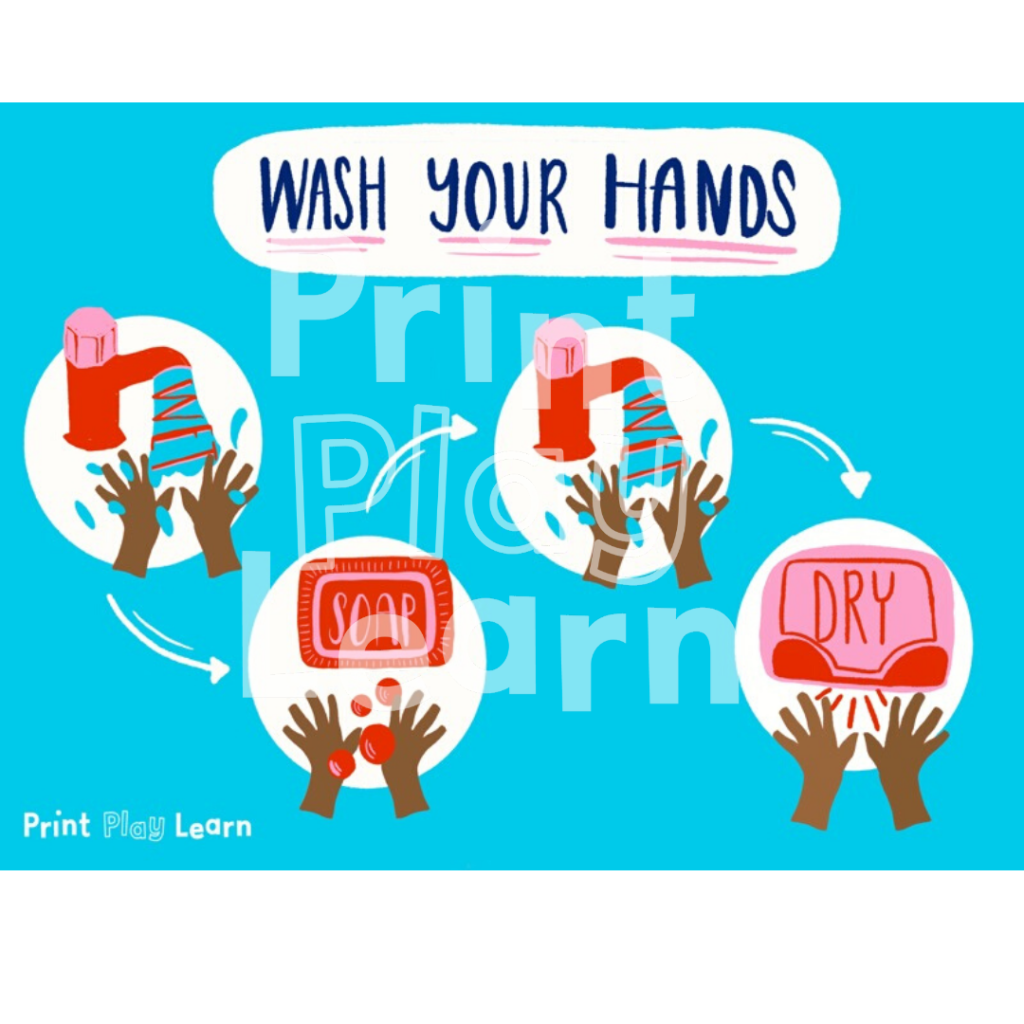 print play learn wash your hands