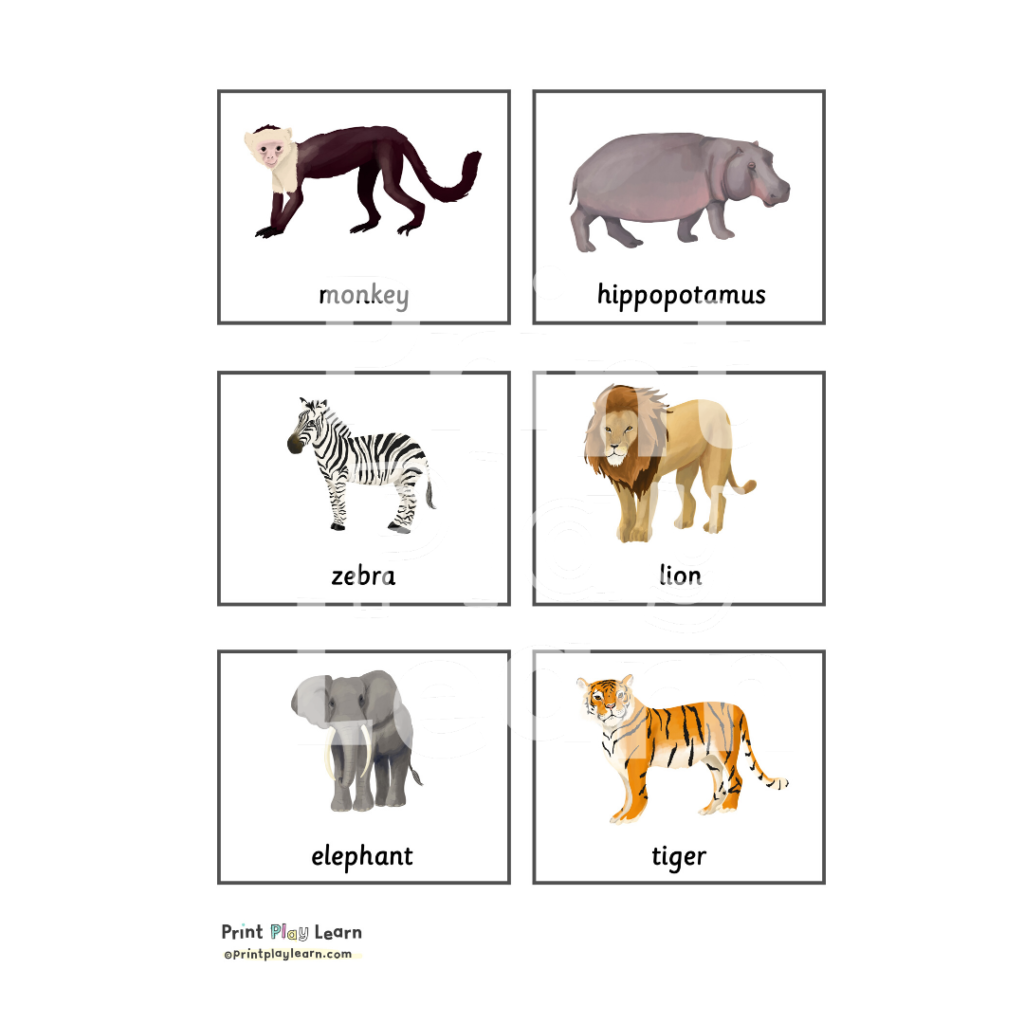 animals ink and tot print play learn montessori