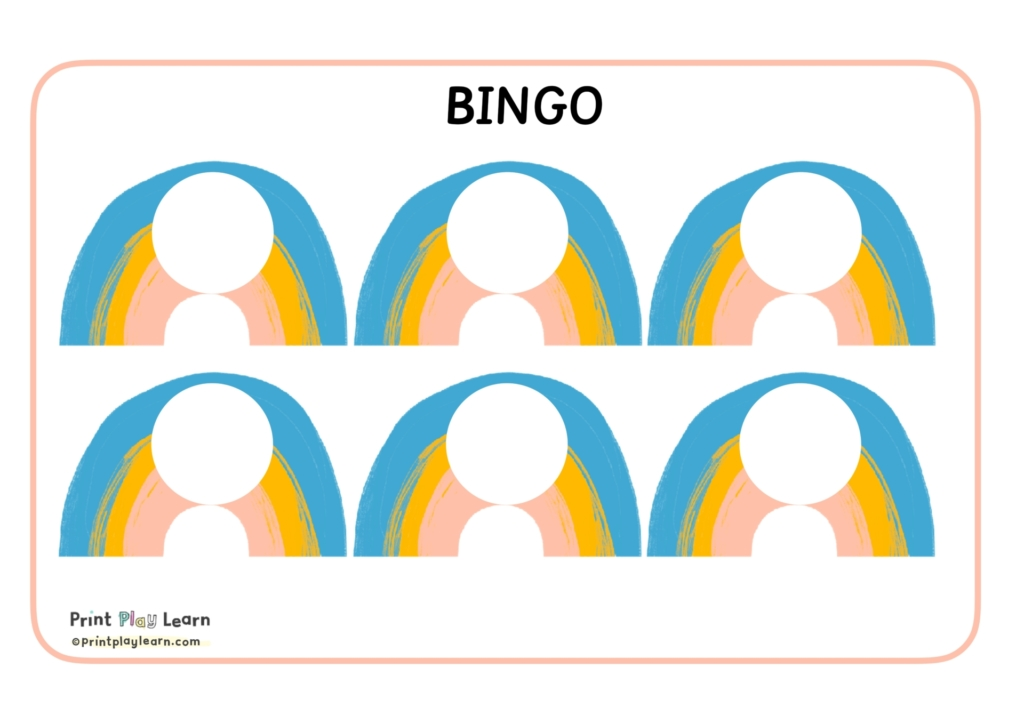 blank bingo boards to use in an early years year one classroom