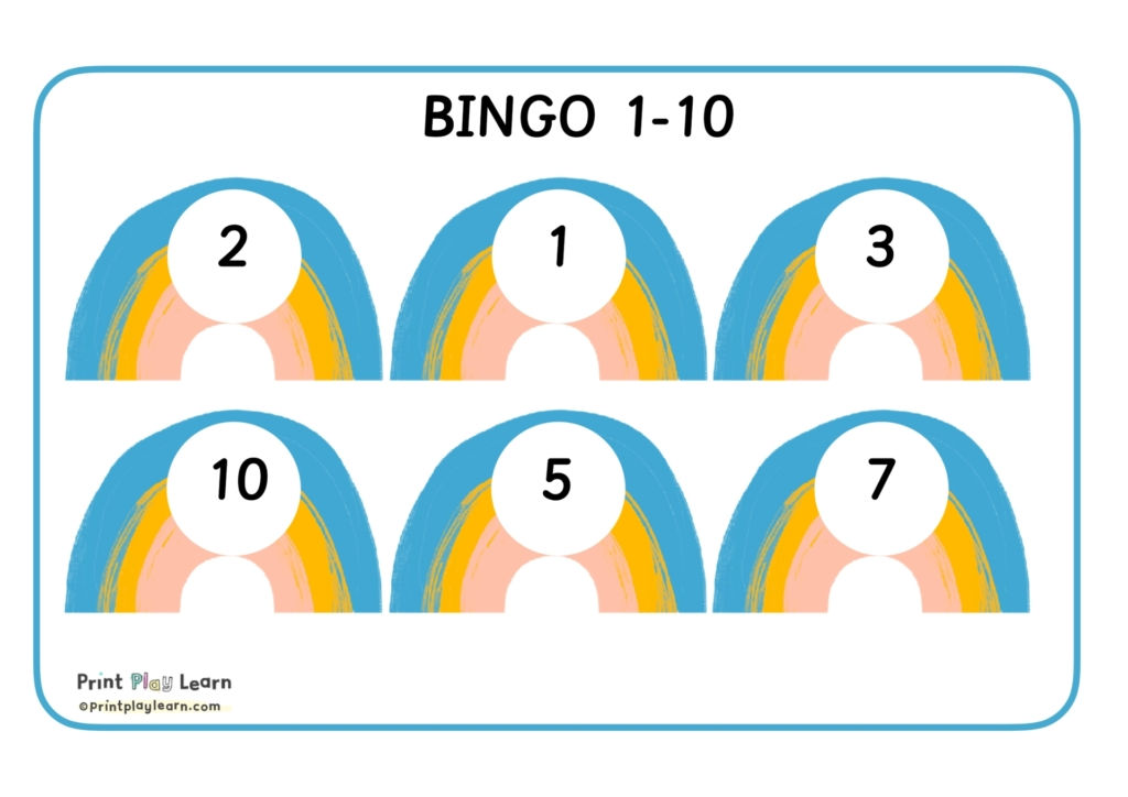 early years rainbow bingo number boards 1-10 printplaylearn-1