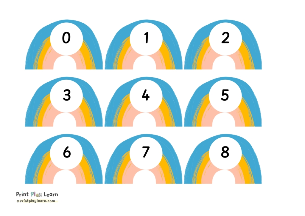rainbow number cards 0-35 printplaylearn