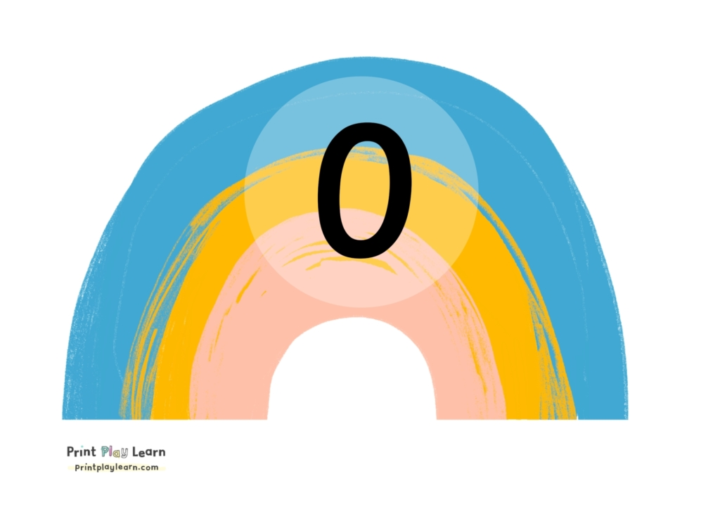 rainbow numbers 0-10 numberline print play learn