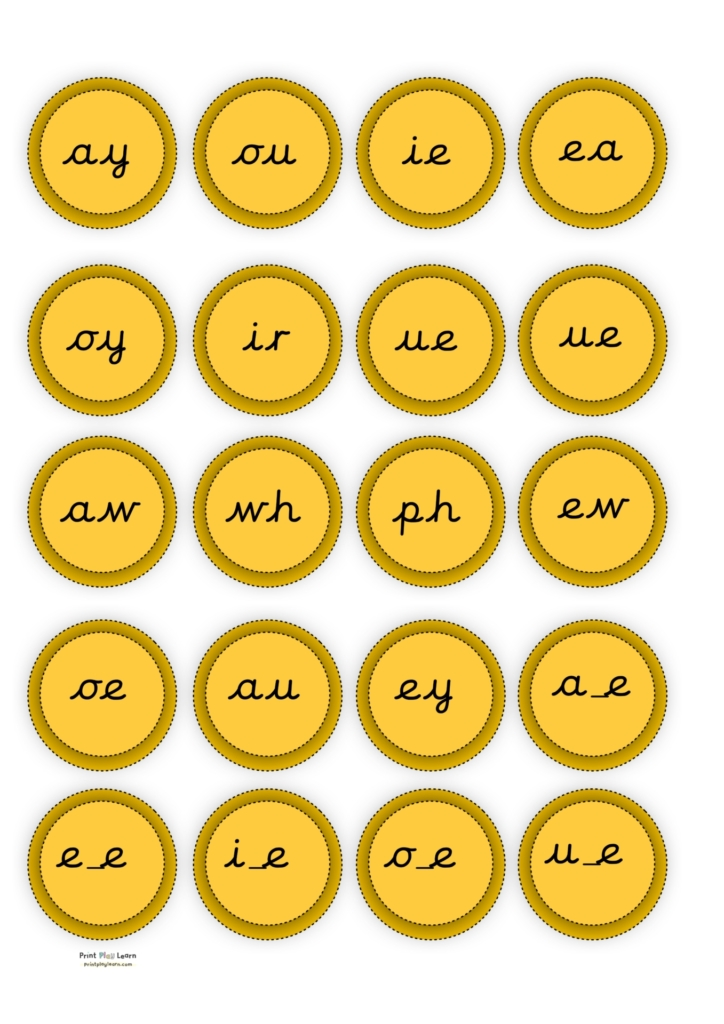 coins with phonics phase 5 cursive printplaylearn pirate game