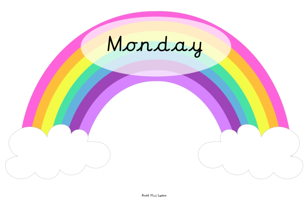days of the week rainbow cursive printplaylearn-1