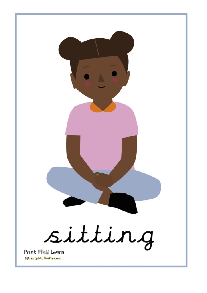 sitting posters ppl classroom prompts