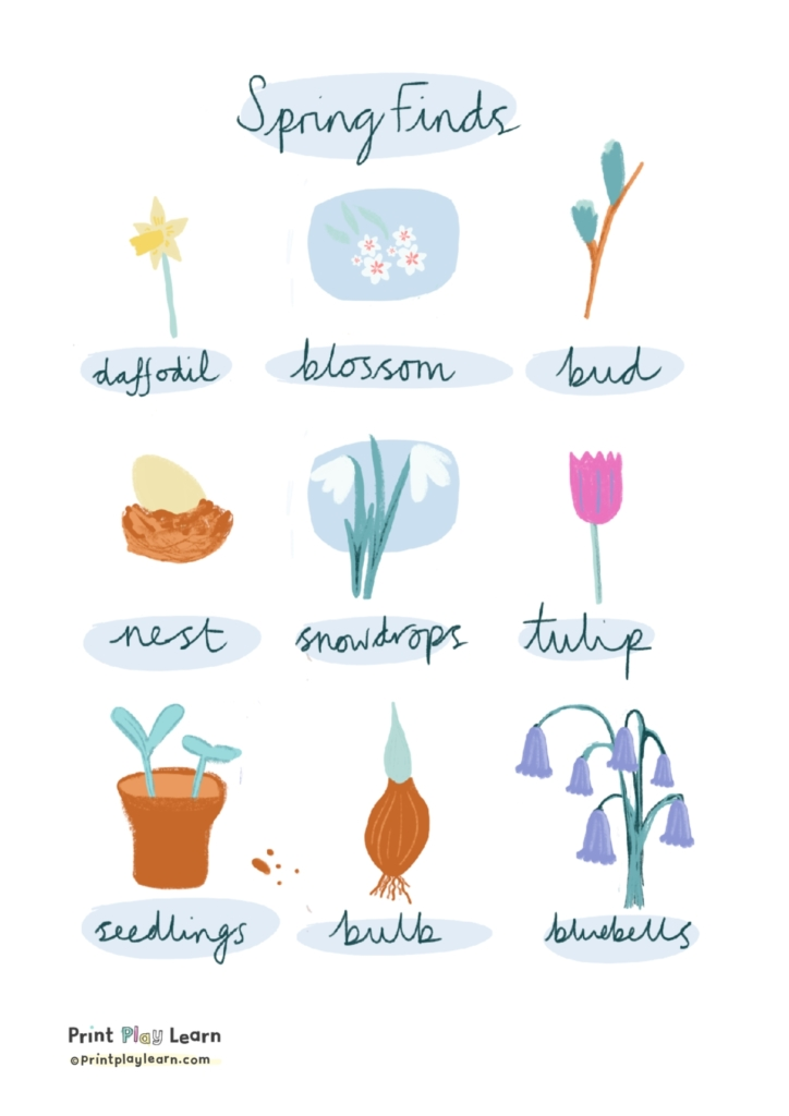 Spring Finds Poster printplaylearn