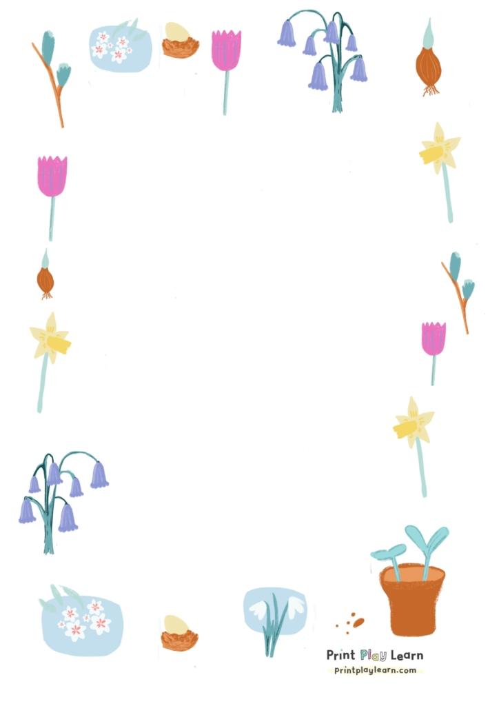 spring paper border printplay